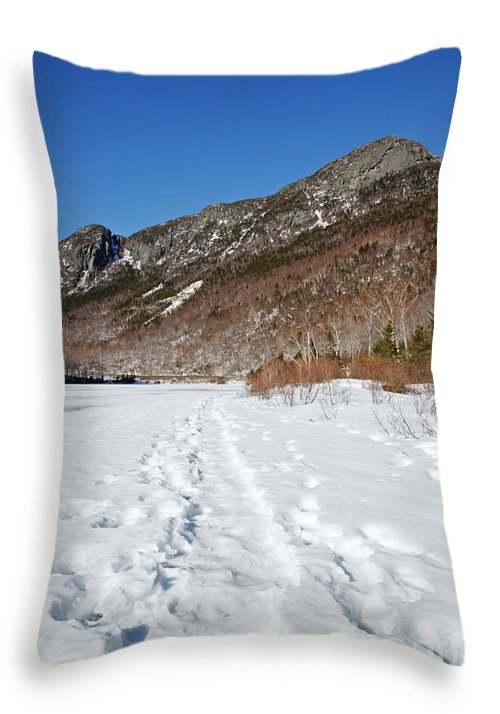 Franconia Notch State Park Throw Pillow featuring the photograph Eagle Cliff - White Mountains New Hampshire Usa by Erin Paul Donovan