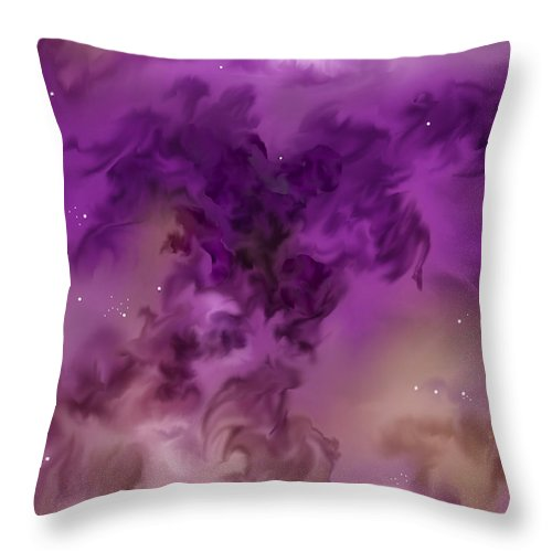 Starscape Throw Pillow featuring the painting Eagle Nebula From The Hubble by Anne Norskog