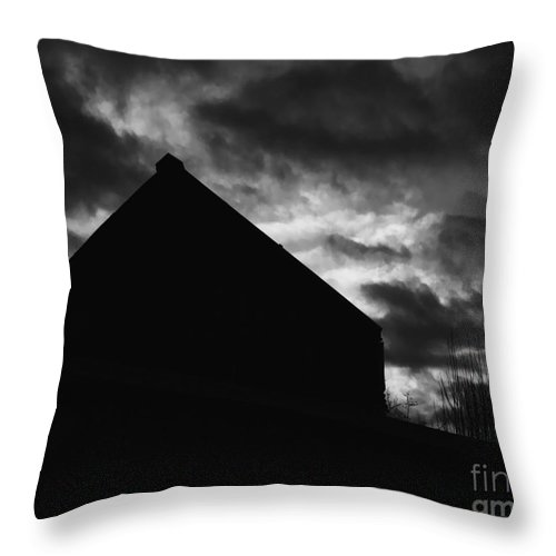 Black And White Throw Pillow featuring the photograph Early Morning by Peter Piatt