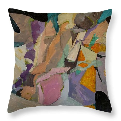 Throw Pillow featuring the painting Easter Egg Hunt by Susan Price