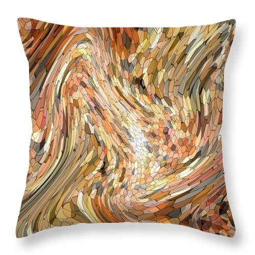 Abstract Throw Pillow featuring the photograph Ebb And Flow by Mark Sellers