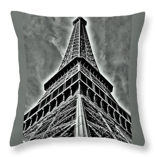 Europe Throw Pillow featuring the photograph Eiffel Tower by Juergen Weiss