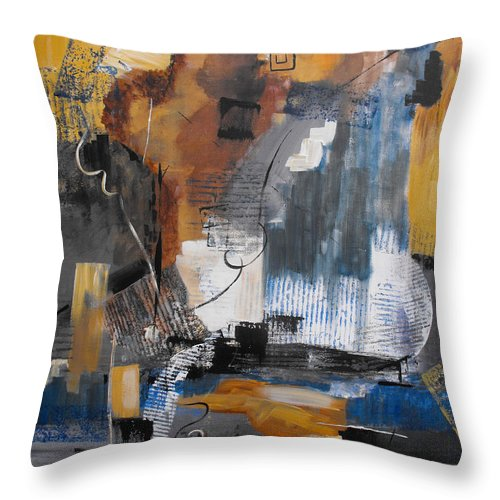 Abstract Throw Pillow featuring the painting Energy by Ruth Palmer