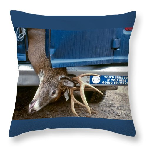 Deer Throw Pillow featuring the photograph Eternal Reward by Thomas Marchessault