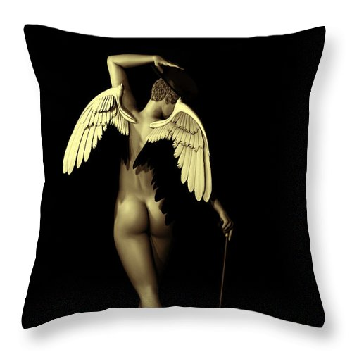 3d Throw Pillow featuring the digital art Ethereal Dance by Alexander Butler