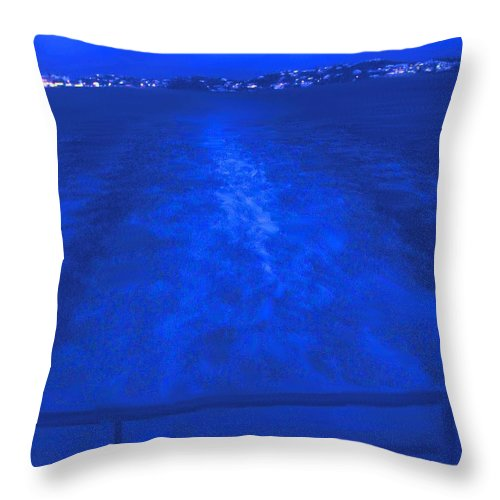 Bermuda Throw Pillow featuring the photograph Evening Fast Ferry by Ian MacDonald