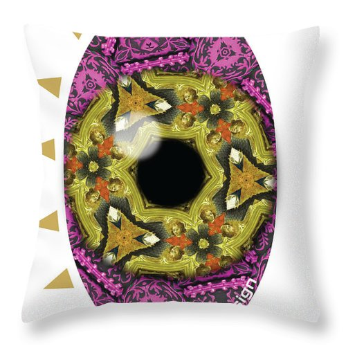 Eye Throw Pillow featuring the painting This Eye Is Hypnotising by Maciej Mackiewicz