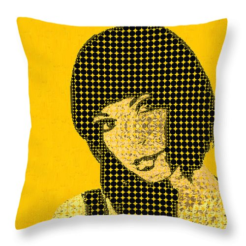 'visual Art Pop' Collection By Serge Averbukh Throw Pillow featuring the photograph Fading Memories - The Golden Days No.3 by Serge Averbukh