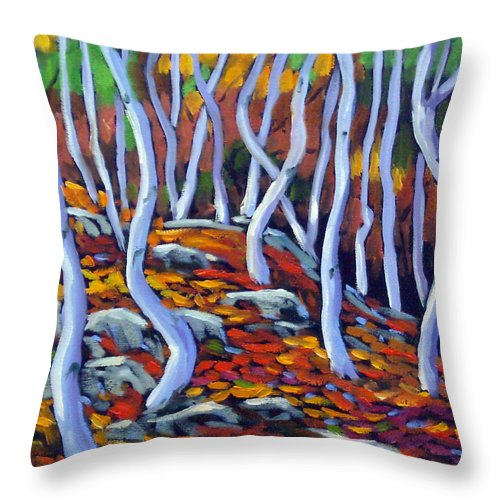 Art Throw Pillow featuring the painting Fantaisie No 6 by Richard T Pranke