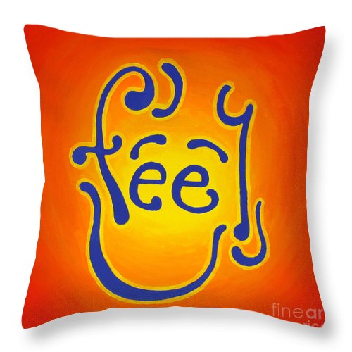 Inspirational Throw Pillow featuring the painting Feel Joy by Jaison Cianelli