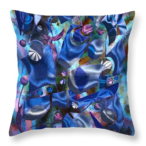 Abstract Throw Pillow featuring the digital art Festive Joy by Mark Sellers
