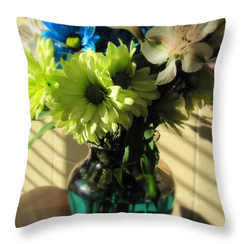 Flowers Throw Pillow featuring the photograph Floral Bouquet 2 by Anita Burgermeister