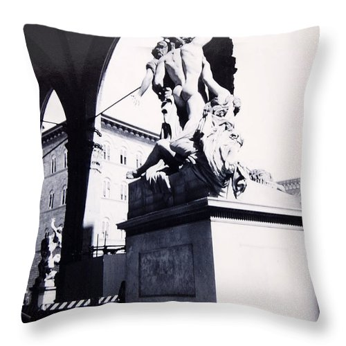Firenze Throw Pillow featuring the photograph Florence by Kurt Hausmann