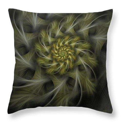 Apophysis Throw Pillow featuring the digital art Flower Of Hope by Amorina Ashton