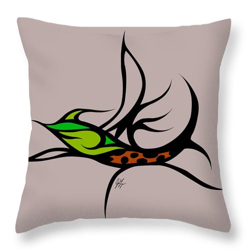 Throw Pillow featuring the digital art Fly Fish Fly by Jamie Lynn