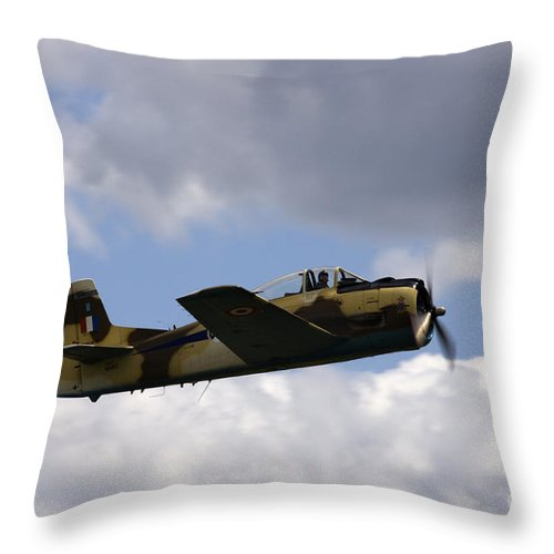 Airshow Throw Pillow featuring the photograph Flying High by Angel Ciesniarska