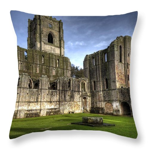 Castle Throw Pillow featuring the photograph Fountains Abbey 6 by Svetlana Sewell