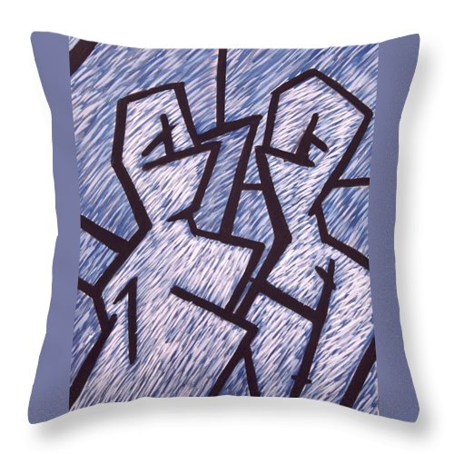 Painting Throw Pillow featuring the painting Friends by Thomas Valentine
