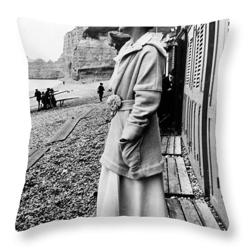 20th Century Throw Pillow featuring the photograph Gabrielle Coco Chanel by Granger