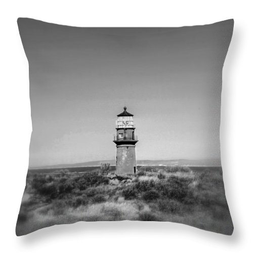 Hdr Throw Pillow featuring the photograph Gay Head Light by Greg DeBeck