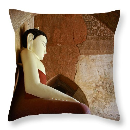 Buddha Throw Pillow featuring the photograph Geometric Buddha by Michele Burgess
