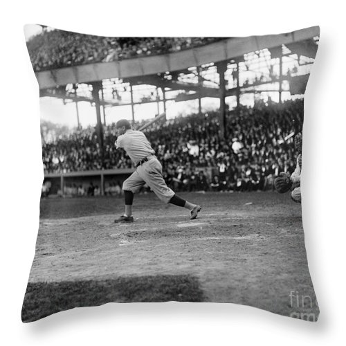 1921 Throw Pillow featuring the photograph George H. Ruth (1895-1948) by Granger