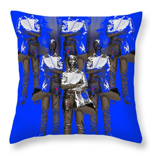 Statue Throw Pillow featuring the digital art Girl Power by Rui DeGouveia
