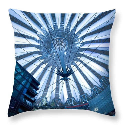 Architecture Throw Pillow featuring the photograph Glass Sky by Pierre Logwin