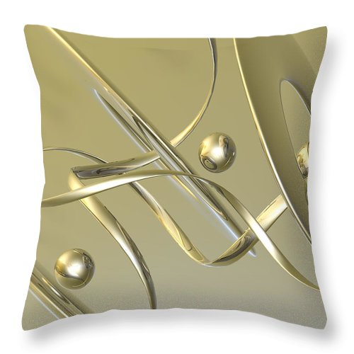 Scott Piers Throw Pillow featuring the painting Gold by Scott Piers
