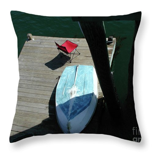 Dory Throw Pillow featuring the photograph Gone Fishing by Faith Harron Boudreau