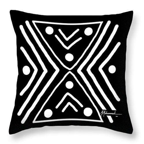 Lines Throw Pillow featuring the painting Good Fortune 3 by Marcella Muhammad