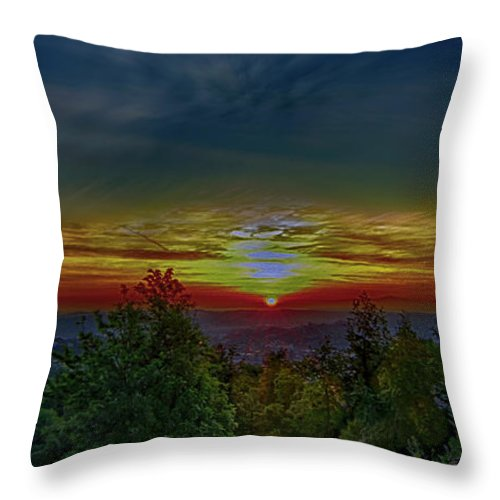Sunrise Throw Pillow featuring the photograph Good Morning Sunrise by Joseph Hollingsworth