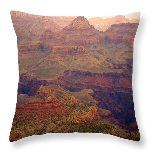 Grand Canyon Throw Pillow featuring the photograph Grand Canyon by James BO Insogna