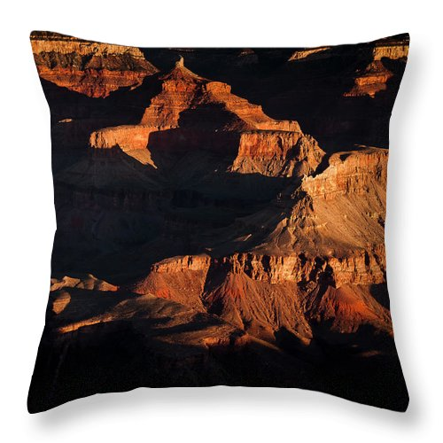 Sunrise Throw Pillow featuring the photograph Grand Canyon Sunrise by Joan McDaniel