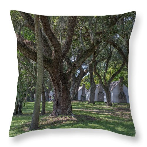 Slave Cabin Throw Pillow featuring the photograph Mcleod Gullah Heritage by Dale Powell