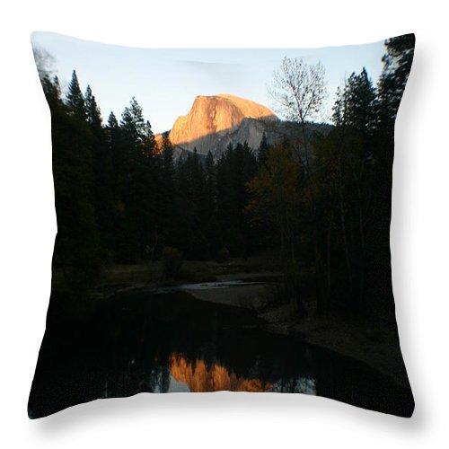 Half Dome Throw Pillow featuring the photograph Half Dome Sunset by Travis Day