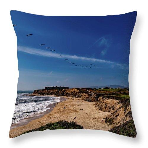 California Throw Pillow featuring the photograph Half Moon Bay Golf Course - California by Mountain Dreams