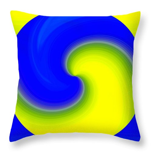 Abstract Throw Pillow featuring the digital art Harmony 22 by Will Borden
