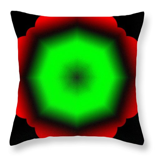 Abstract Throw Pillow featuring the digital art Harmony 26 by Will Borden