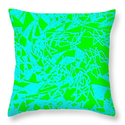 Abstract Throw Pillow featuring the digital art Harmony 8 by Will Borden
