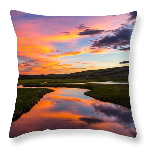 Hayden Valley Sunset Throw Pillow For Sale By Thomas Szajner