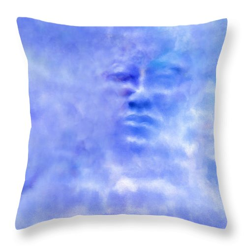 Sky Throw Pillow featuring the digital art Head In The Clouds by Holly Ethan