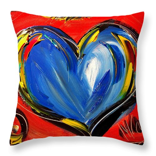 Hearts Throw Pillow featuring the painting Heart by Mark Kazav