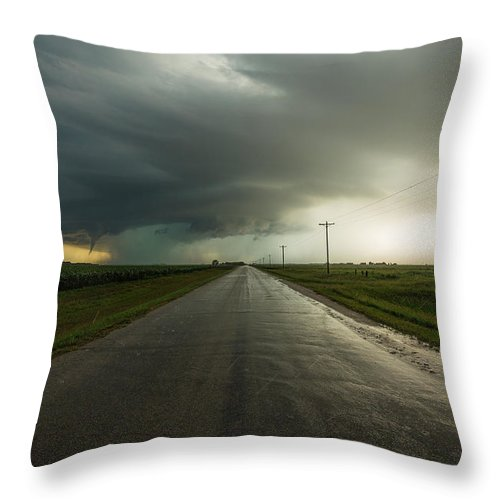 Tornado Throw Pillow featuring the photograph Highway To Hell 1 by Aaron J Groen