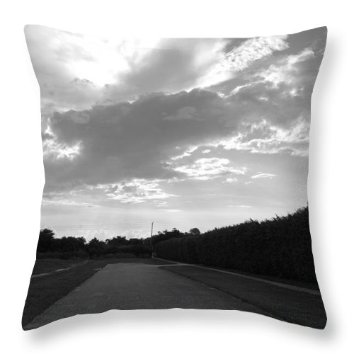 Black And White Throw Pillow featuring the photograph Homestead Sky by Rob Hans