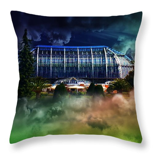 Weather Throw Pillow featuring the photograph House In The Sky by Flavien Gillet