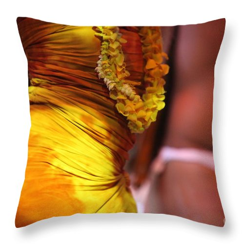 Dance Throw Pillow featuring the photograph Hula Dancers by Nadine Rippelmeyer