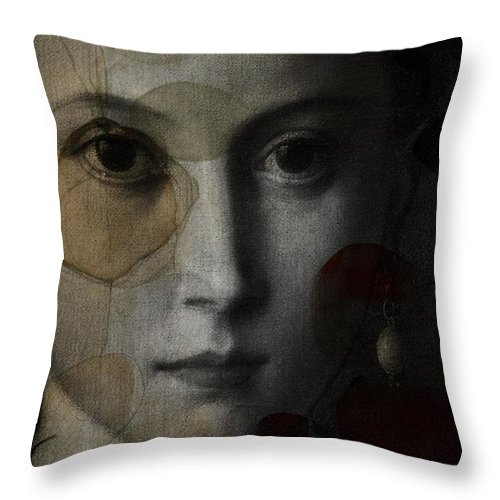 Portrait Throw Pillow featuring the digital art I Don't Know Why - 2 by Paul Lovering