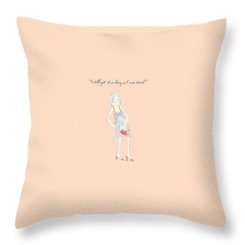Humor Throw Pillow featuring the digital art I Still Got It by Heather Hennick
