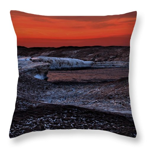 Ice Throw Pillow featuring the photograph Ice Dunes II by Gaby Swanson